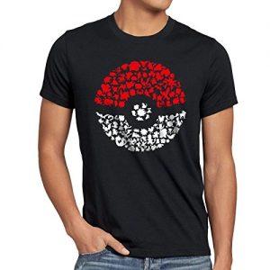 ANT-Atrapa-ms-Monstruos-Camiseta-para-hombre-T-Shirt-poke-ball-videojuego-0