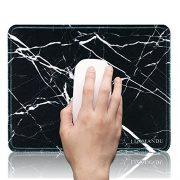 Alfombrilla-de-Ratn-Gaming-260-210-mmLizimandu-Silicona-Suave-Antideslizante-Mouse-Pad-para-Ordenador-Porttil-de-4-mm-de-espesor-ultra-suave-y-sedosoMarmol-NegroBlack-Marble-0-0