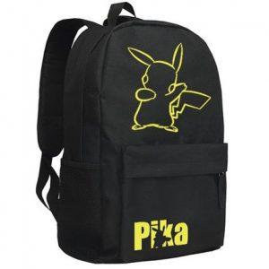 Cuero-de-la-vaca-Piel-Cartera-Multi-bolsillos-Monedero-Cartera-fina-hombre-Anime-Purse-Pokemon-Go-Bag-Pikachu-Mochila-Negro-Mochila-militar-0