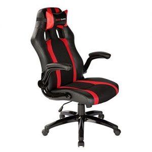 Mars-Gaming-MGC2-Silla-Asiento-acolchado-Respaldo-acolchado-Negro-Rojo-Negro-Rojo-Negro-Poliuretano-0