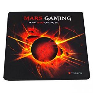 Mars-Gaming-MMP0-Alfombrilla-de-ratn-gaming-alta-precisin-con-cualquier-ratn-base-de-caucho-natural-alta-comodidad-caucho-universal-20-x-22-cm-negro-y-roja-0