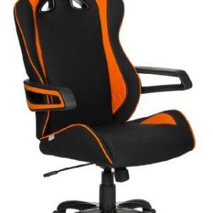 hjh-OFFICE-621842-RACER-PRO-II-Silla-gaming-y-oficina-tejido-negro-naranja-0
