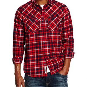 Carhartt-LS-Shirt-Camisa-Para-Hombre-Multicolor-Torres-Check-Blast-RED-L-0
