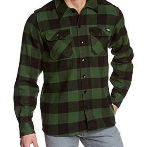 Dickies-Streetwear-Male-Shirt-Sacramento-Camiseta-Camisa-deportivas-para-hombre-color-verde-pine-green-talla-Small-0