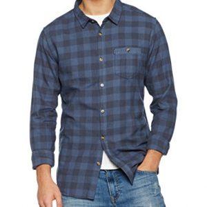 Rip-Curl-Check-It-Ls-Shirt-Camisa-para-hombre-color-azul-talla-S-0
